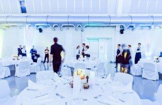 Shedhalle Bankett Service in der Eventhalle