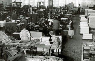 Druckmaschinen in der heutigen Shedhalle
