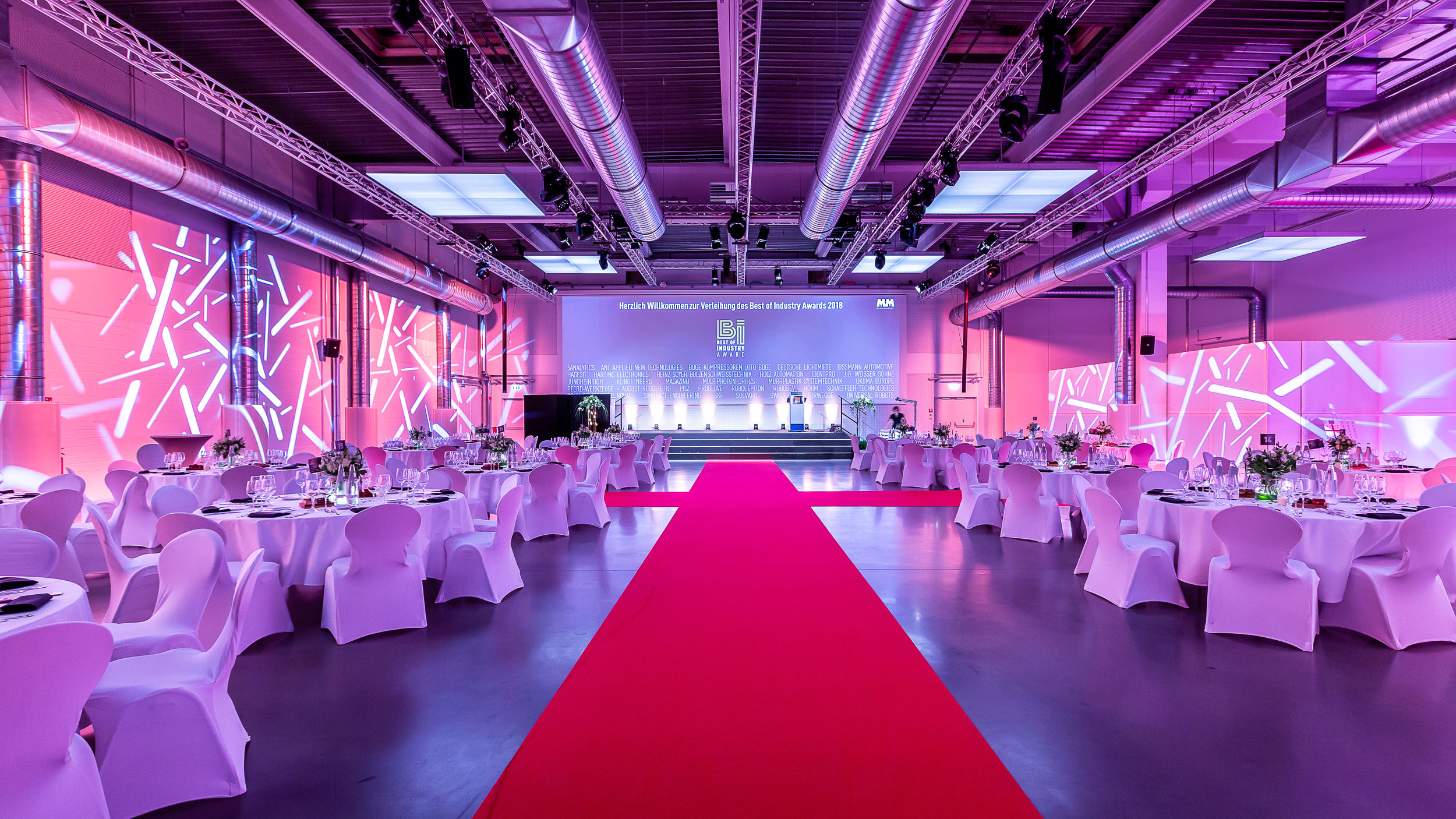 Best of Industry Award - Preisverleihung in der Rotationshalle